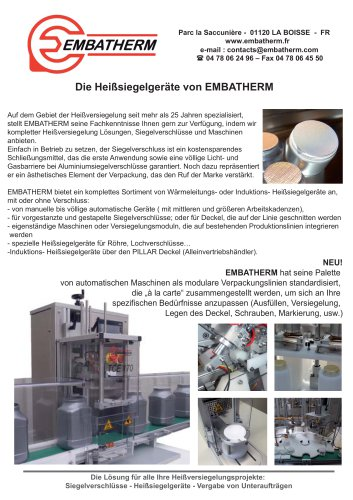 Maschine EMBATHERM