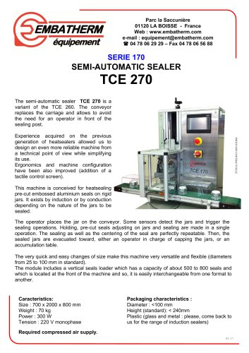 SEMI-AUTOMATIC SEALER TCE 270