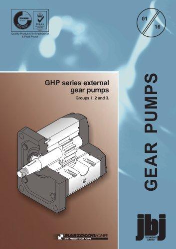 GHP series external gear pumps Groups 1, 2 and 3
