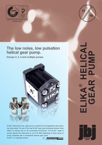 Low Noise, High Efficiency Gear Pumps