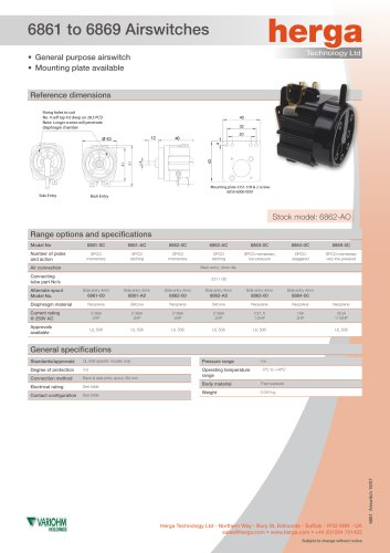 6861 to 6869 Airswitches