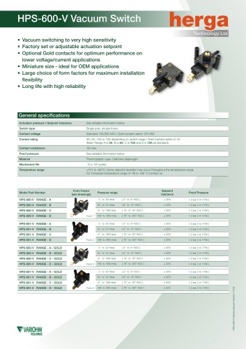 HPS-600-V Vacuum Switch