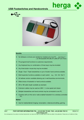 USB Footswitches & Handcontrols