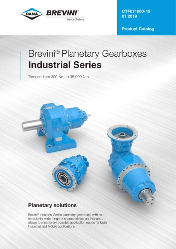 Brevini® Planetary Gearboxes Industrial Series