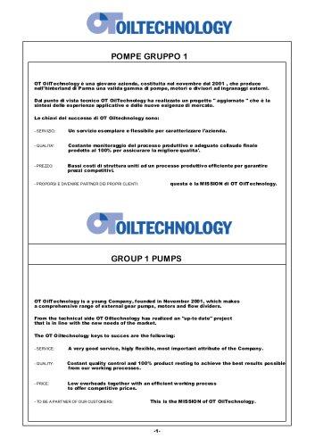 OT 100 Group 1 pumps