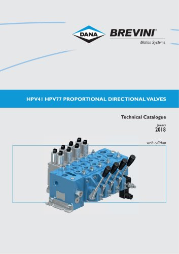 Proportional directional valves HPV41 HPV77