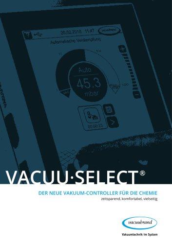 VACUU·SELECT DER neue Vakuum-Controller für die chemie