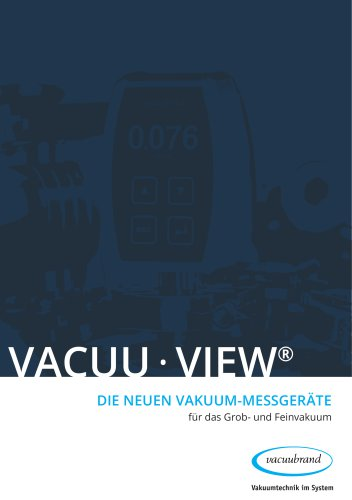 VACUU·VIEW Vakuum-Messgeräte