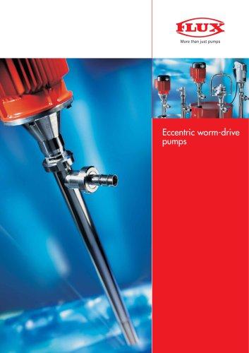 Eccentric worm-drive pumps