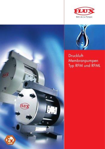 FLUX Druckluft-Membranpumpen RFM/RFML