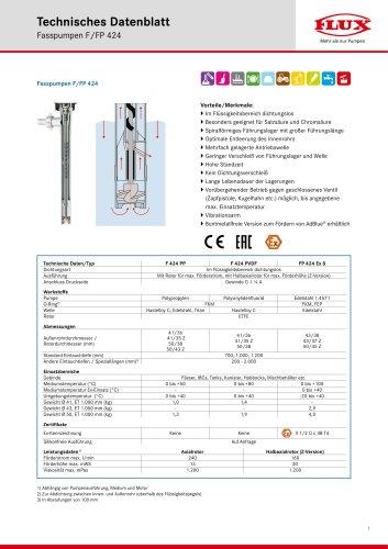 FLUX Fasspumpe F/FP 424 Datenblatt