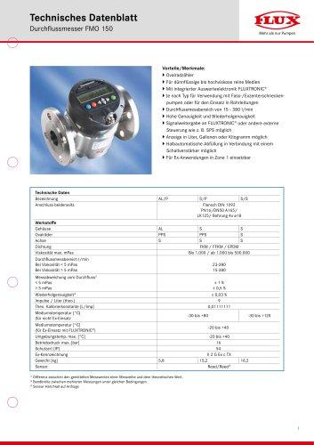 FLUX Ovalradzähler FMO 150 Datenblatt