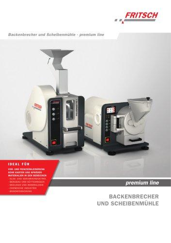 Backenbrecher und Scheibenmühlen premium line  - PULVERISETTE 1 premium line - PULVERISETTE 13 premium line