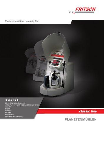 Planetenmühlen classic line - PULVERISETTE 5 - PULVERISETTE 6 - PULVERISETTE 7