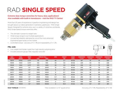 RAD Single Speed (Metric)