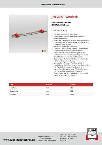 JFB 20 G TL - Produkt Details