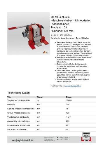JH 10 G plus ku Produkt Details