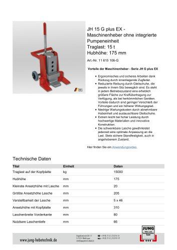 JH 15 G plus EX Produkt Details
