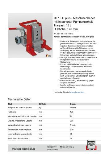 JH 15 G plus Produkt Details