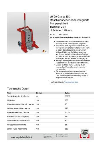 JH 20 G plus EX Produkt Details