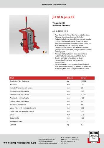 JH 30 G plus EX Produkt Details