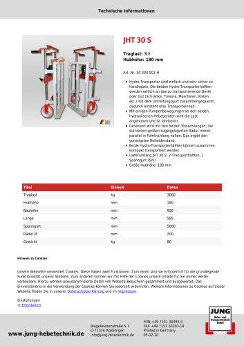 JHT 30 Produkt Details