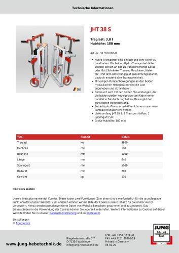 JHT 38 Produkt Details