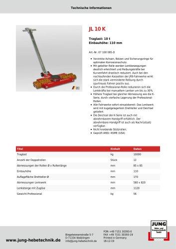JL 10 K Produkt Details