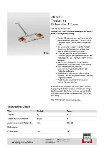 JTLB 6 K Produkt Details