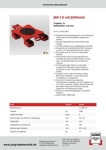 Produkt Details JKB 3