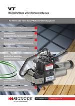 VT Pneumatisches Kombinations Umreifungswerkzeug für 16mm oder 19mm Tenax® Polyester Umreifungsband