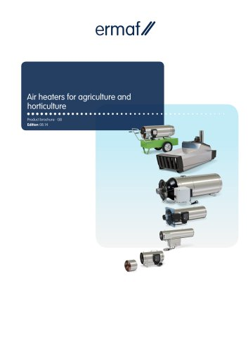 Air heaters for agriculture and horticulture