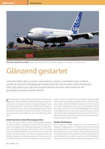 Aerospace: API-Systeme in der Fertigung von Landeklappen für den Airbus A380 (Kinkele GmbH&Co KG)