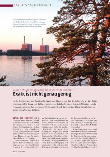 Anwenderbericht: Laser Tracker beim Einsatz in der Turbinenfertigung (Siemens)