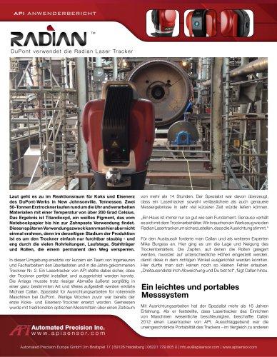 Einsatz von Lasertrackern bei der Titandioxid-Produktion (DuPont)