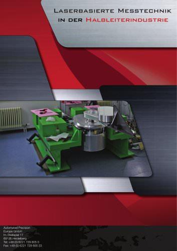 Halbleiterindustrie: Messen von Bereitstellungssystemen mit Lasertrackern (Handlingssysteme für Vakuum/Reinstraum)