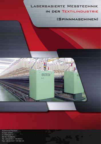 Laserbasierte Messtechnik in der Textilindustrie (Spinnmaschinen)