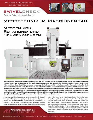 Messen von Rotations- und Schwenkachsen im Maschinenbau (Fräsmaschinen)