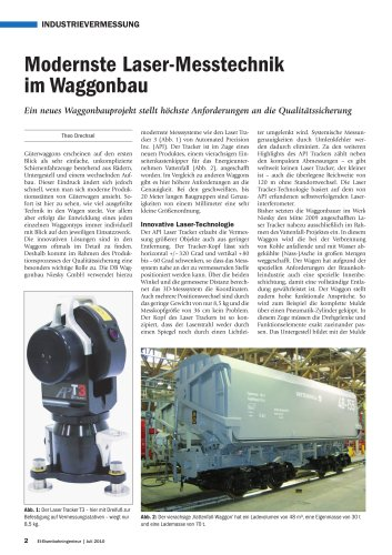 Modernste Laser-Messtechnik im Waggonbau