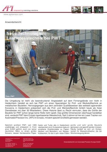 PWT: Messdienstleister für Grossteile (Papierfabriken, Wasserkraftwerke)