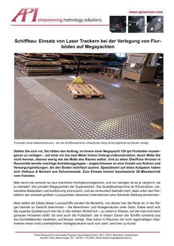 Schiffbau: Einsatz von Laser Trackern bei der Verlegung von Flurböden