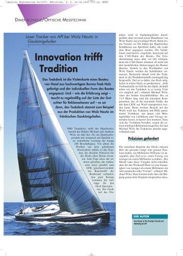 Schiffbau: Innovation trifft Tradition. API Tracker bei Wolz Nautic