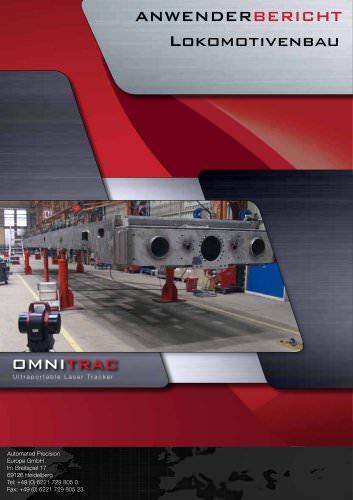 Siemens Lokomotivenwerk München: Lasermesstechnik und Lasertracker im Einsatz