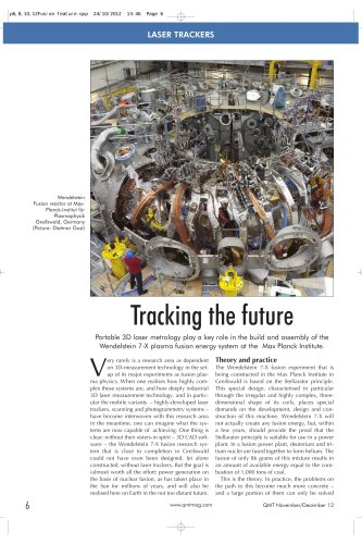 Tracking the future -portable 3D laser metrology at the Max Planck Insitute