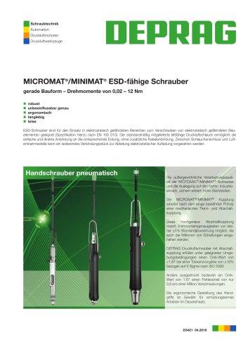 MICROMAT / MINIMAT-ESD-Handschrauber gerade Bauform