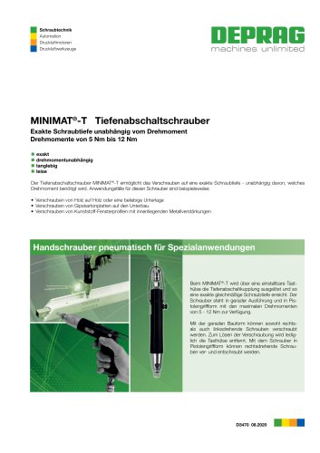 MINIMAT-T Tiefenabschaltschrauber