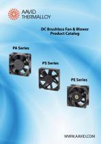 DC Brushless Fan & Blower Product Catalog