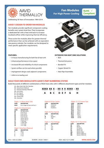 Fan Modules For High Power Cooling