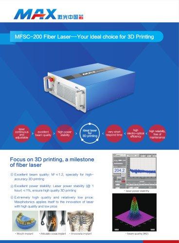 Maxphotonics MFSC-200 CW fiber laser for 3D printing