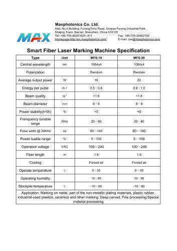 MFS-20 Maxphotonics Smart Laser Marking Machine